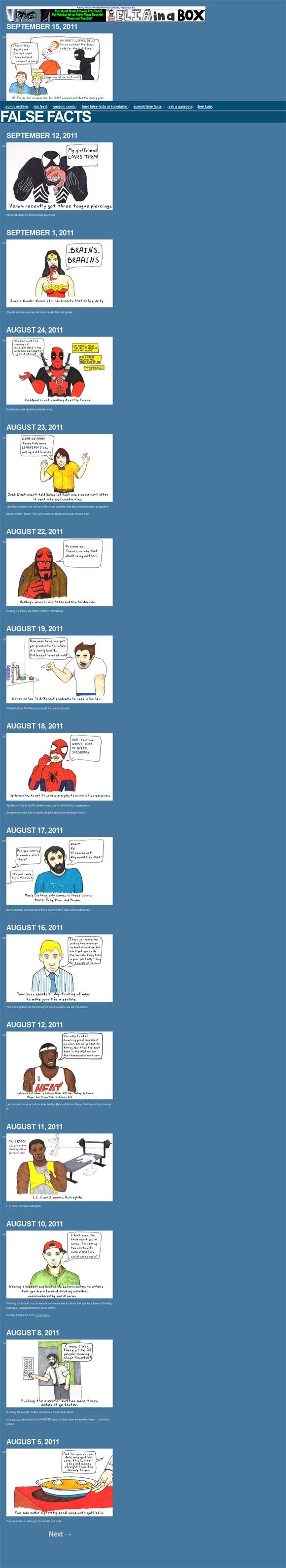 False Facts Comic